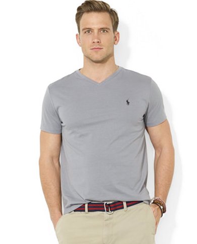 Polo ralph lauren classic men s v neck t shirt review for What is polo neck t shirts